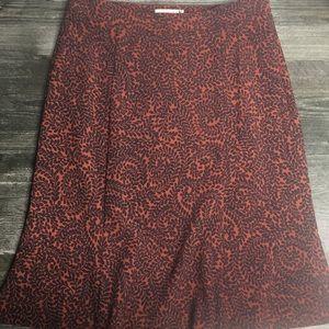 🐙 Ann Taylor Loft Floral Printed Skirt